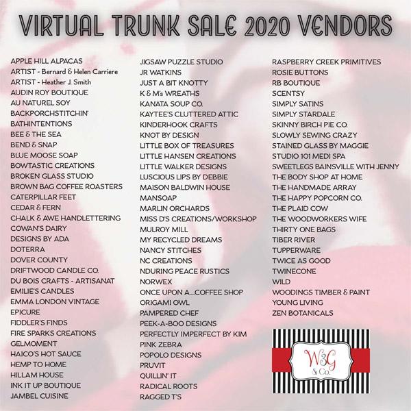 Trunk Sale vendors