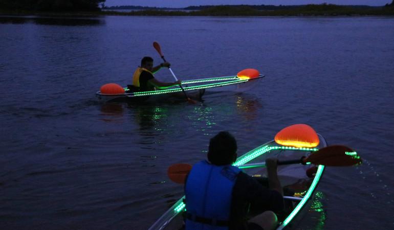 Glowing kayaks