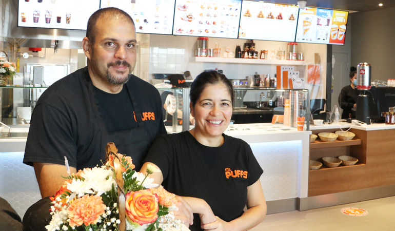 Mr. Puffs franchisees Marc Smith and Anna Ailamakis